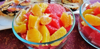 Hand Carved Marble Bowl-Ripened Fruit Salad