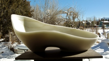 Along The Way,Woody Creek, Colorado Yule Marble Sculpture by Martin Cooney