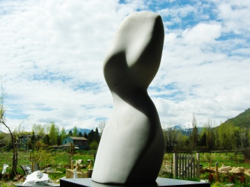 Belle, Woody Creek, Colorado Yule Marble Sculpture by Martin Cooney
