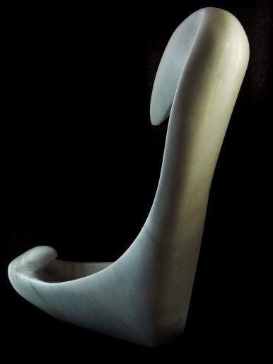 Birth of a Guin, Colorado Yule Marble Sculpture by Martin Cooney
