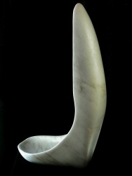 Fingerbowl, Colorado Yule Marble Sculpture by Martin Cooney