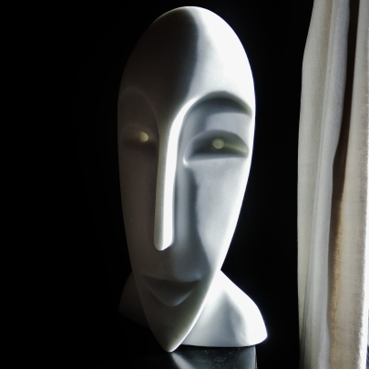 Girl in the Moon, Cosmic Twin 1, 3, Colorado Yule Marble by Martin Cooney