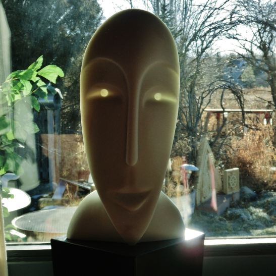 Girl in the Moon, Cosmic Twin 1, 4, Colorado Yule Marble by Martin Cooney