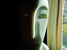 Girl in the Moon, Cosmic Twin 1, 6, Colorado Yule Marble by Martin Cooney