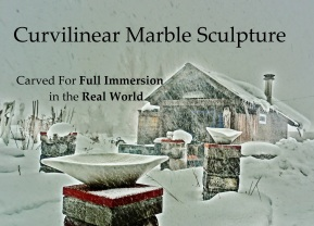 Lemonworld, Woody Creek, Colorado Yule Marble Sculpture by Martin Cooney