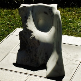 Mabel, Spirit of the Stone, Colorado Yule Marble Sculpture by Martin Cooney