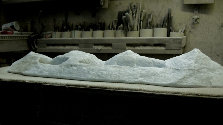 Mountains of Moab, 1, Colorado Yule Marble by Martin Cooney