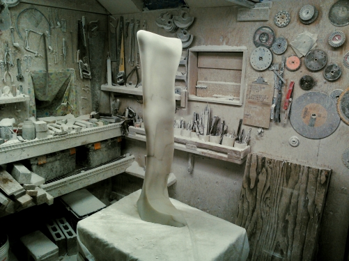cat Walk, Woody Creek Workshop, Birthplace of Curvilinear Marble Sculpture by Martin Cooney