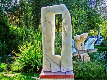 Oblique Perspective, 1, Colorado Yule Marble by Martin Cooney