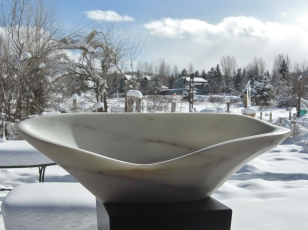On The Cusp, 1, Colorado Yule Marble by Martin Cooney