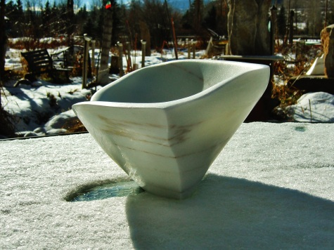 On The Cusp, Woody Creek, Colorado Yule Marble Sculpture by Martin Cooney