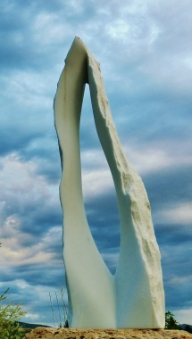 Reversed Equation, Woody Creek, Colorado Yule Marble Sculpture by Martin Cooney