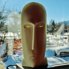 Salt of the Earth, Cosmic Twin 2, Colorado Yule Marble Sculpture by Martin Cooney