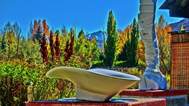 San Rocchino, Woody Creek, Colorado Yule Marble Sculpture by Martin Cooney