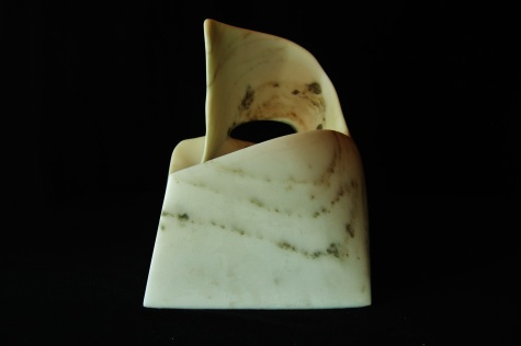Swan Wave, Colorado Yule Marble Sculpture by Martin Cooney