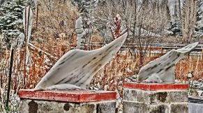 Thing One and Two, 3, Colorado Yule Marble by Martin Cooney