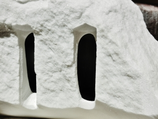 Troglodyte Cloister, 1, Colorado Yule Marble by Martin Cooney