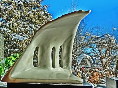 Troglodyte Cloister, Woody Creek, Colorado Yule Marble Sculpture by Martin Cooney