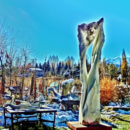 Wolf Man Jack, 9, Colorado Yule Marble by Martin Cooney