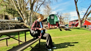 Kris Cooney ponders her options at The Avalanche Ranch, Along the Aspen Marble Detour